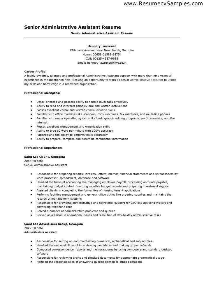 sample of administration resume objective shopgrat intended for ...