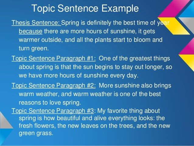 Writing a 3-point Thesis Statement