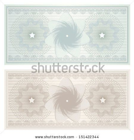 Gift Certificate Voucher Coupon Template Blue Stock Illustration ...