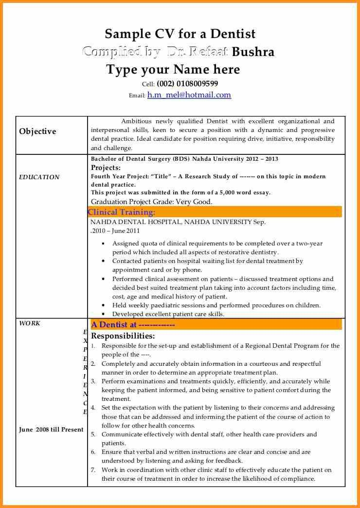 9+ dental resume example | cook resume