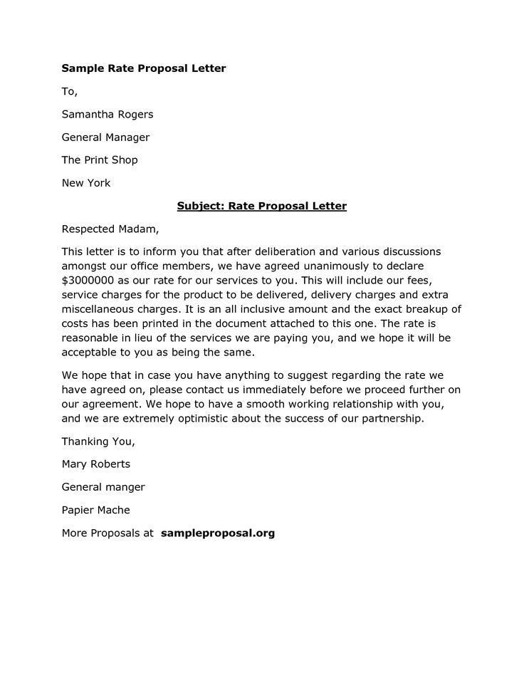 Business Proposal Letter To Client. Sample Product Sales Proposal ...