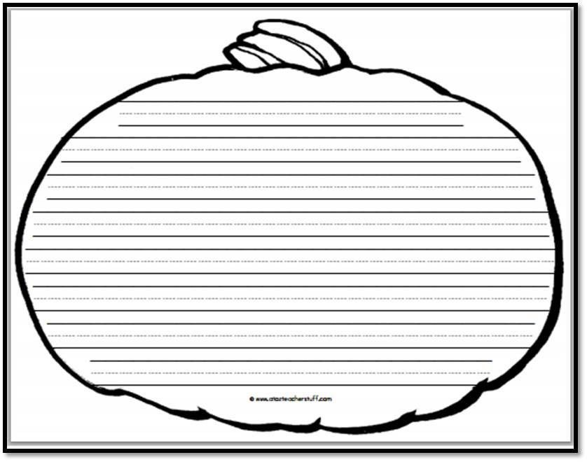 Pumpkin Writing Paper – 8 Handwriting Lines | A to Z Teacher Stuff ...