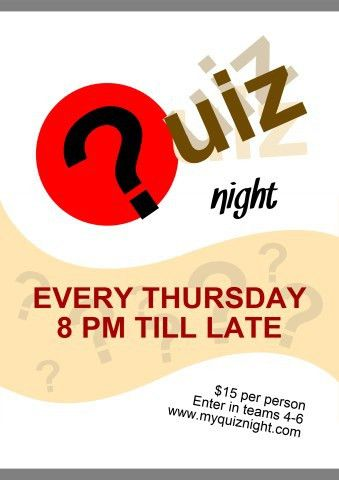 Quiz Night 1 poster template, How to print a Quiz Night 1 poster...