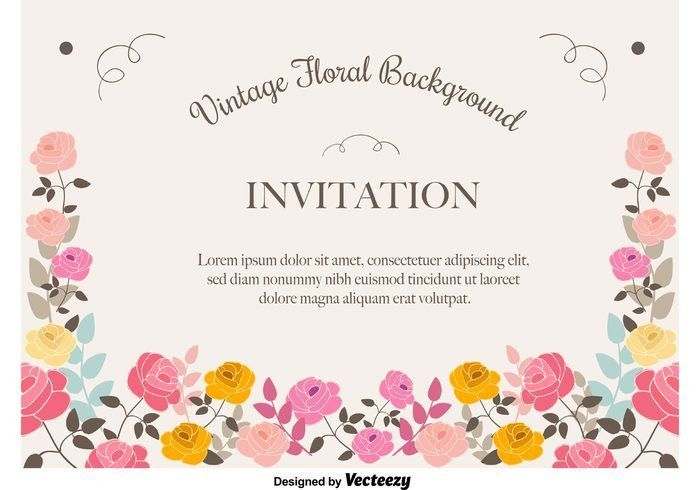 Floral Invitation Background - Download Free Vector Art, Stock ...
