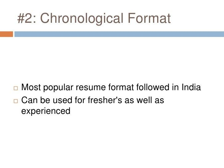 resume format