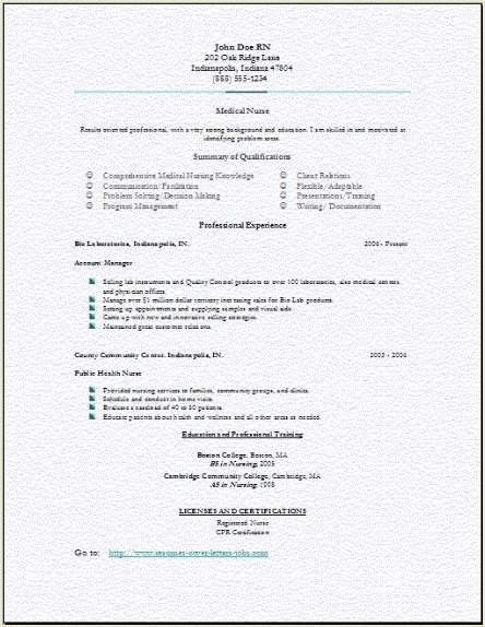nursing resume free nurse examples school student sample template ...