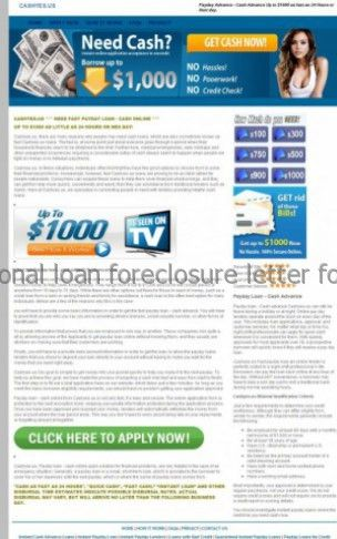 Personal loan foreclosure letter format, Payday loan bc regulations