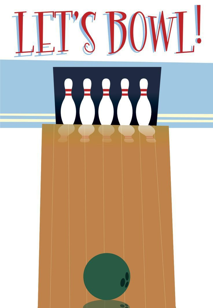 Bowling Invitation Template. 1 Retro Style Bowling Birthday Party ...