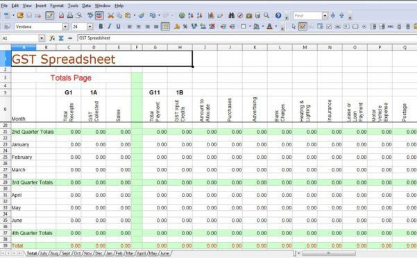 T Accounts Spreadsheet Simple Business Accounting Spreadsheet ...