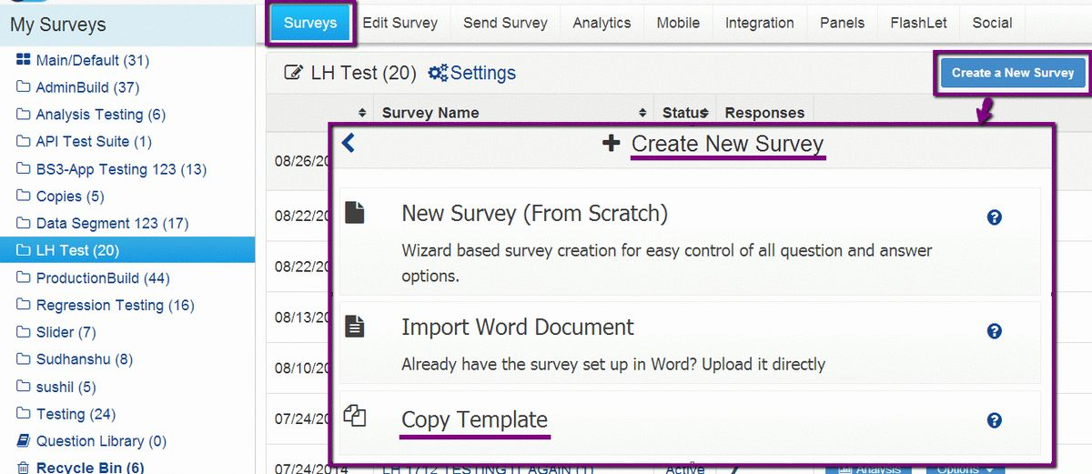 SurveyAnalytics Features