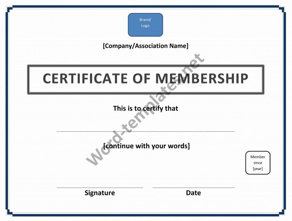 Certificate of Membership Template Archives - Free MS Word Templates