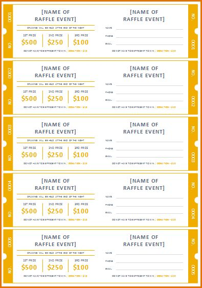 7+ raffle ticket template free | Job Resumes Word