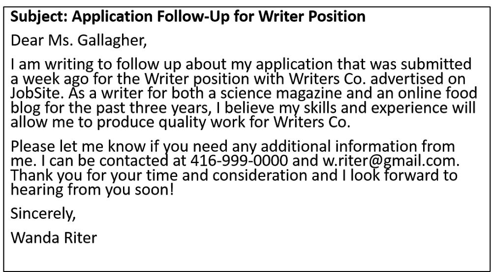 How to Write a Follow-Up Email for a Job Application – LSCDS