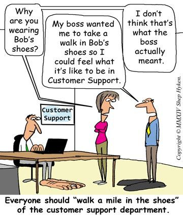 An Opportunity to Walk in the Customer Support Center's Shoes ...