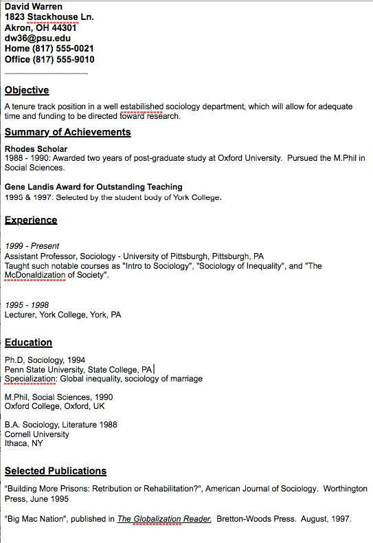 Academic Assistant Professor Resume Sample - http://resumesdesign ...