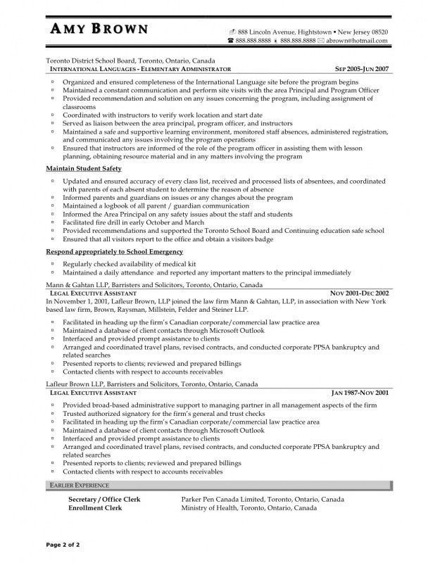 Secretary Resume Examples. Free Administrative Secretary Resume ...