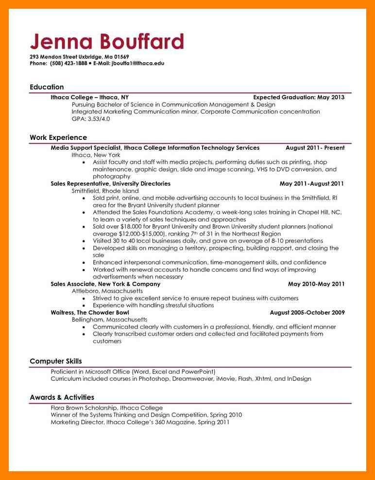 Good Resume Examples For College Students. resume example ...