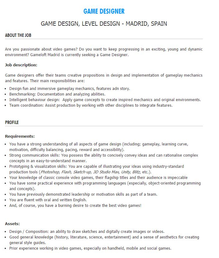 Description Of Job There Are Several Different Positions In Video