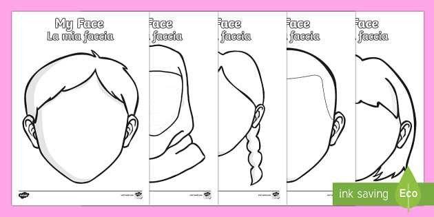 Blank Faces Templates English/Italian - Blank Faces Templates