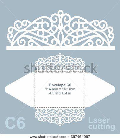 Vector Die Cut Envelope Template Laser Stock Vector 393866479 ...