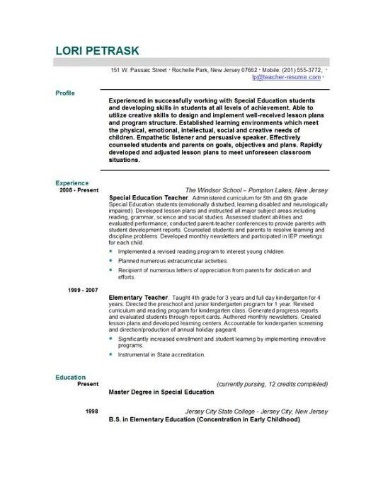 Resume Sample For Lecturer Position   Create professional resumes ...