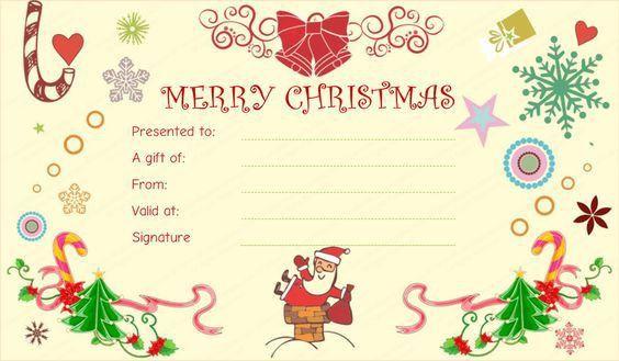 Christmas gift certificate template | Beautiful Printable Gift ...