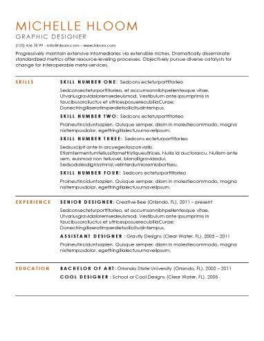 Free Simple Resume Templates. Download Simple Resume Template Word ...