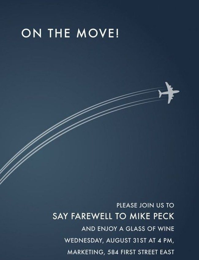 Farewell invitation sample | Invitations Online