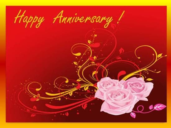 A Beautiful Wedding Anniversary Card. Free Happy Anniversary ...