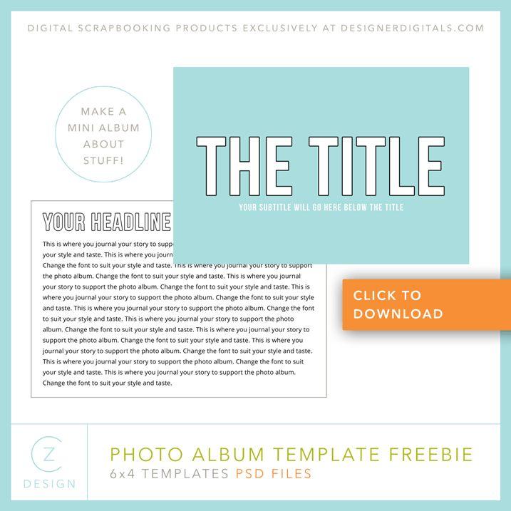 Download my free 6 x 4 Simple Album Template - CZ Design