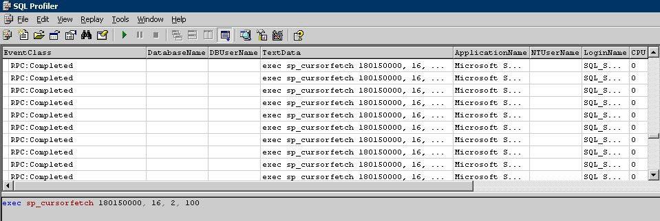 SQL Server Performance Exposing API Server Cursors