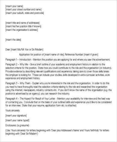 Sample Cover Letter Salutation - 8+ Free Documents in Word, PDF