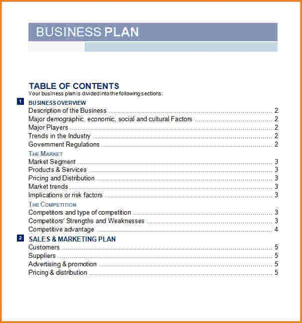 Business Plan Outline Template. Business Plan Proposal Template 12 ...