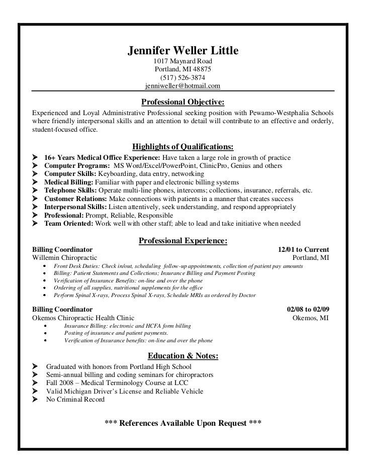 Majestic Design Medical Billing Resume 12 Medical Billing And ...