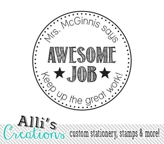 Custom Teacher Stamp Self inking Teacher Stamp by alliscreations ...