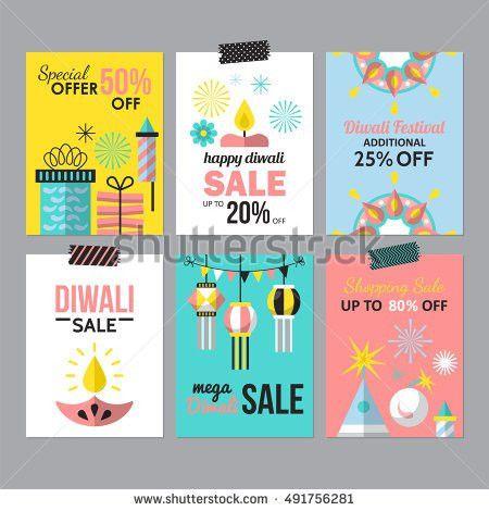 Diwali Hindu Festival Sale Flyer Design Stock Vector 491756281 ...