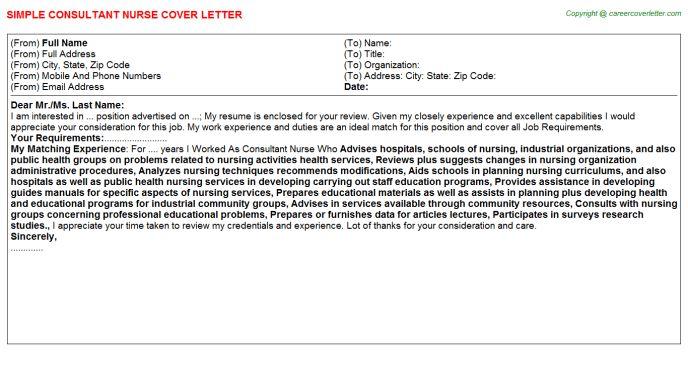 Consultant Nurse Job Title Docs