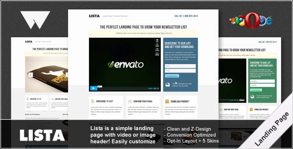 Great Landing Page Templates From ThemeForest