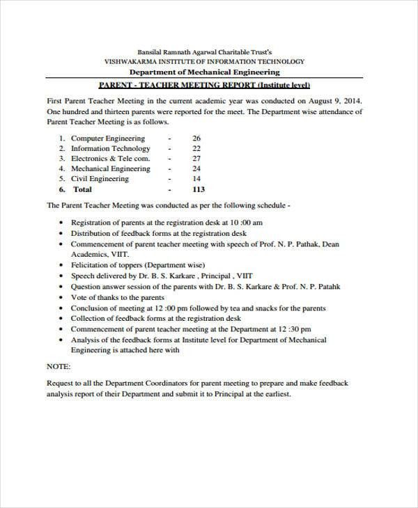 Meeting Report Templates - 12+ Free Word, PDF Format Download ...