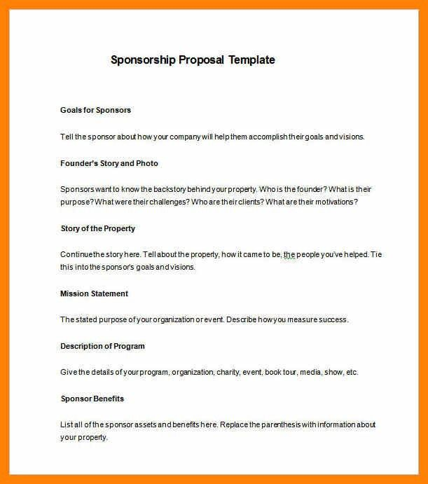 Motorsports Sponsorship Proposal Template. how to write a proposal ...