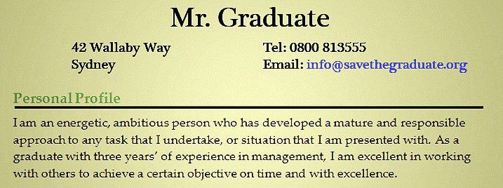 how to write a personal statement save the graduate. sample resume ...