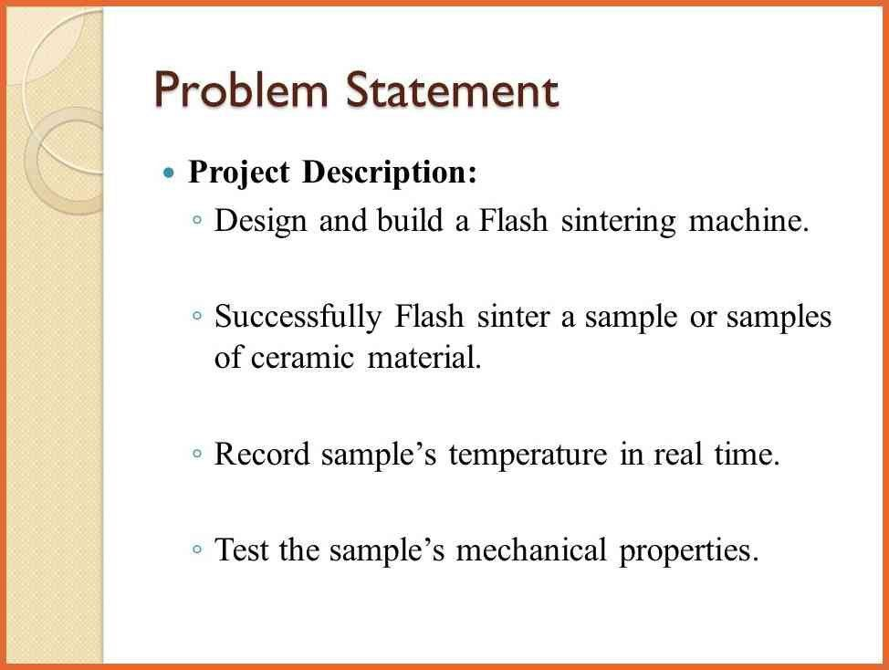 problem statement examples | bid proposal example