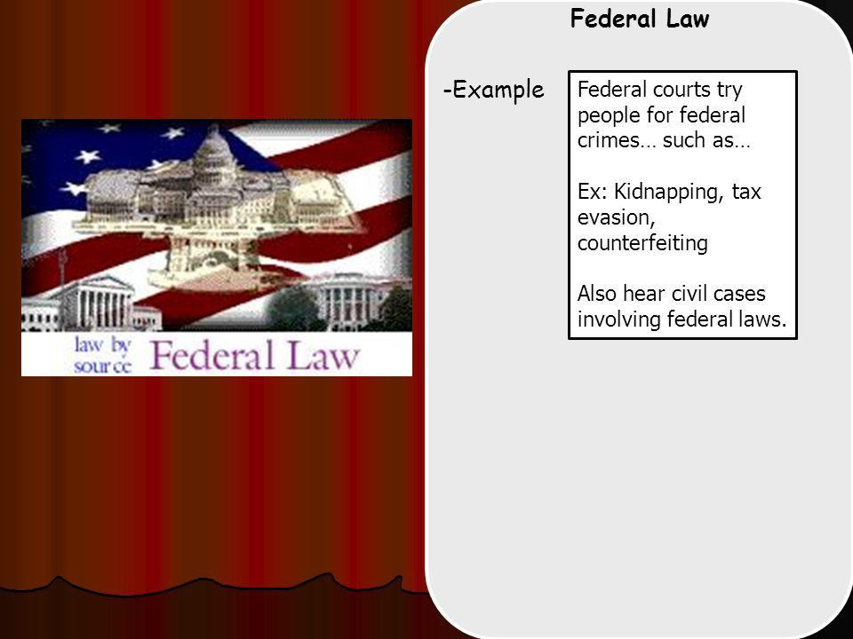 Court Systems -Two Separate Court Systems Federal: State: Checks ...