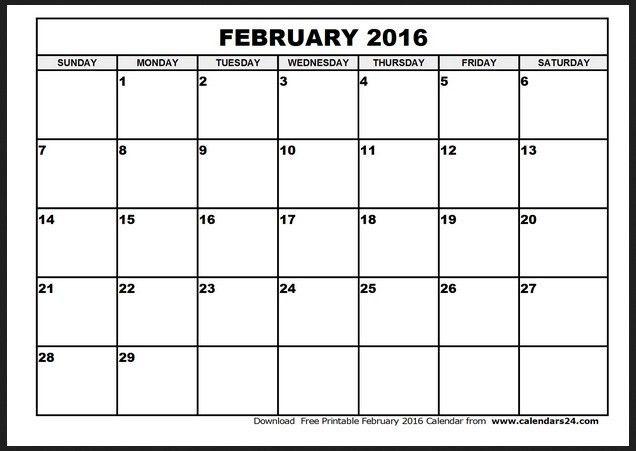February 2016 Calendar Template | Calendar Picture Templates