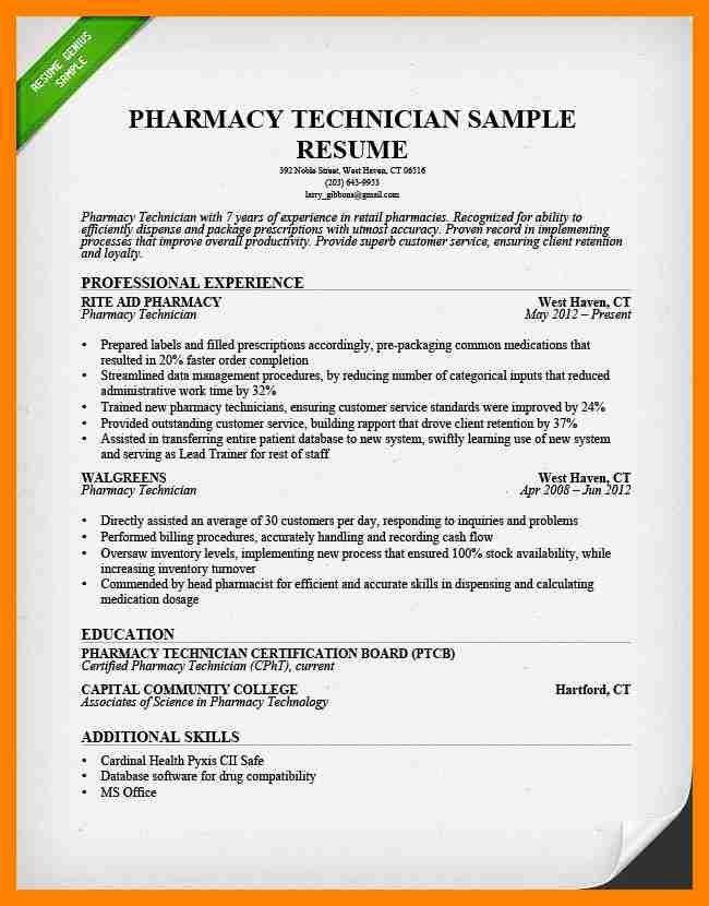 Pharmacy Technician Resume. Technical Resume Template | Resume ...