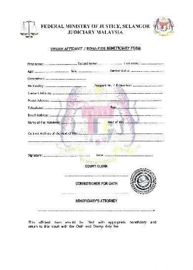 Affidavit Of Bona Fide Marriage Letter For Immigration Sample ...