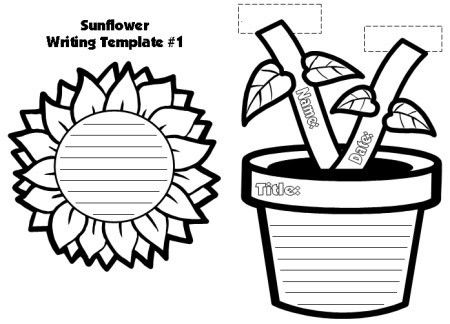 Sunflower Template | Free Download Clip Art | Free Clip Art | on ...
