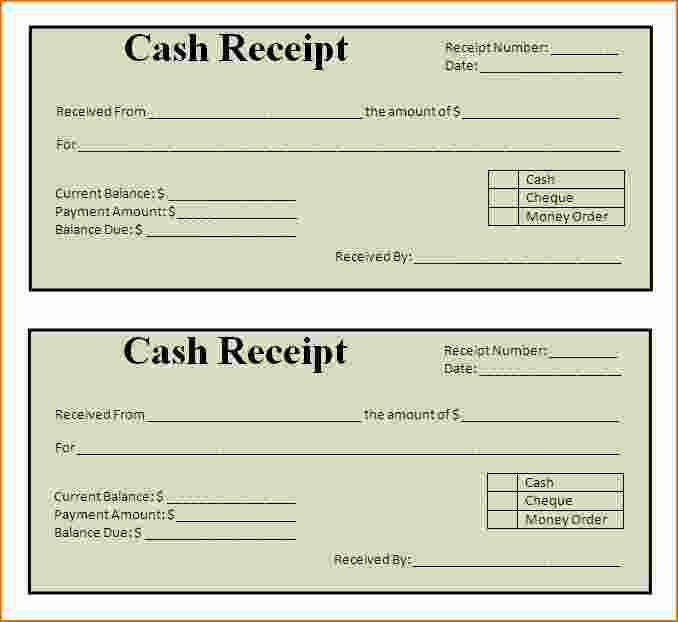 simple receipt template | Printable Receipt