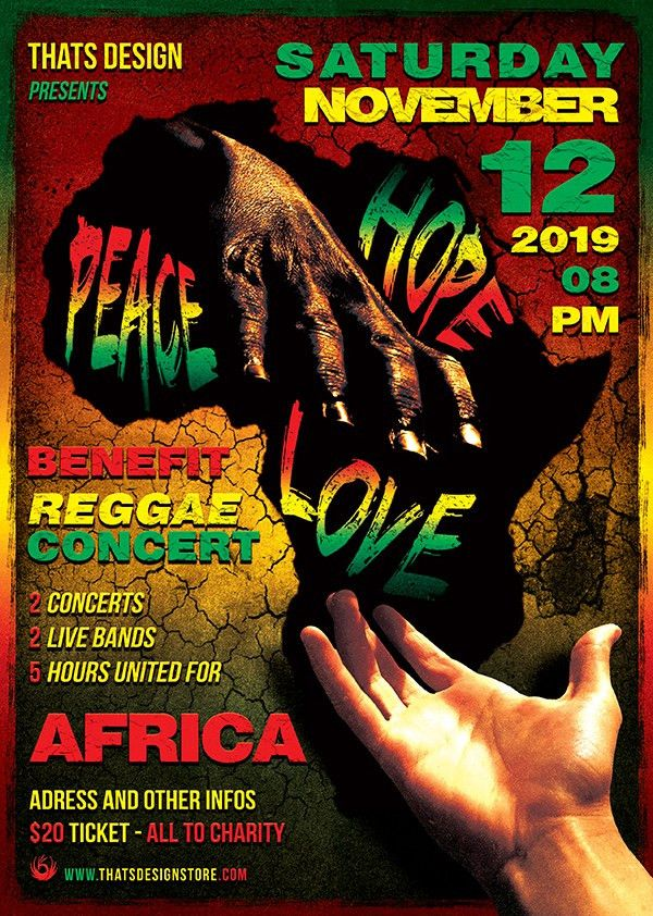 Reggae Africa United Flyer Template | TDS