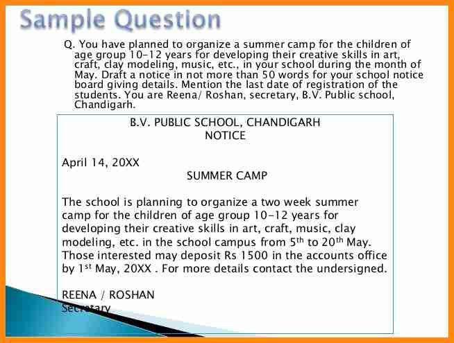 5+ school notice sample | model resumed